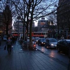 28 Evening busy street