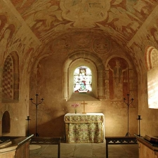 Norman paintings St Marys Church Kempley 5840