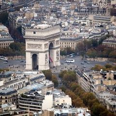 Arc de Triomphe from Eiffel Tower 2069
